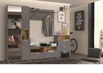Наборная мебель для прихожей АРТЕ, цвет Графит/Дуб каменный