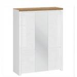 VIGO Шкаф 5D с зеркалом Белый глянец