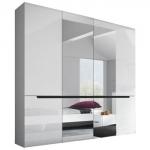 Шкаф 4-х дв. спальня HEKTOR (ГЕКТОР) белая, мебель HELVETIA