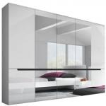 Шкаф 5-ти дв. спальня HEKTOR (ГЕКТОР) белая, мебель HELVETIA