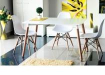 Стол NOLAN 80x120, из МДФ на деревянных ножках букового цвета 27