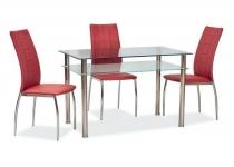 Стол PIXEL 70x120 СИГНАЛ стеклянный на металлических ножках 59