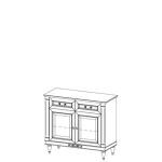 Комод FL-K2 FLORENCJA (ФЛОРЕНЦИЯ), мебель ТАРАНКО