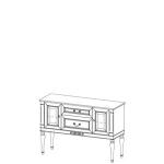 Комод FL-K2A FLORENCJA (ФЛОРЕНЦИЯ), мебель ТАРАНКО