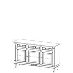 Комод FL-K3 FLORENCJA (ФЛОРЕНЦИЯ), мебель ТАРАНКО