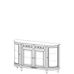 Комод FL-K4 FLORENCJA (ФЛОРЕНЦИЯ), мебель ТАРАНКО