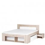 Кровать 160 РИКО, с выдвижными ящиками и прикроватными тумбами