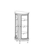 Витрина FL-W3/4 FLORENCJA (ФЛОРЕНЦИЯ), мебель ТАРАНКО