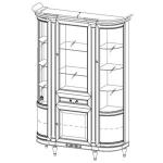 Витрина FL-W3/G FLORENCJA (ФЛОРЕНЦИЯ), мебель ТАРАНКО
