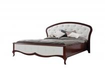 Кровать MI-1, обтянута кожей без матраца MILANO, мебель ТАРАНКО