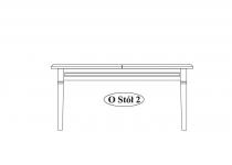 Стол обеденный O-stół 2 мебель TARANKO