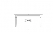 Стол обеденный O-stół 5 мебель TARANKO
