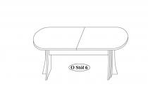 Стол обеденный O-stół 6 мебель TARANKO