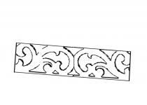 Ажурные накладки к витрине MI-1/2 МИЛАНО, мебель ТАРАНКО