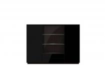 Витрина с ящиками и дверцами TOGO(ТОГО)48 с подсветкой, HELVETIA