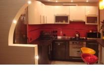 Кухня на заказ 13 нашего производства с пленочными фасадами