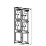 Стеллаж-витрина BA-1 система BARCELONA, мебель фабрики TARANKO