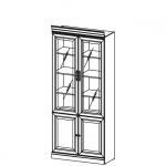 Стеллаж-витрина BA-2 система BARCELONA, мебель фабрики TARANKO