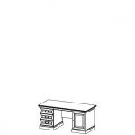 Стол письменный BA-D система BARCELONA, мебель фабрики TARANKO