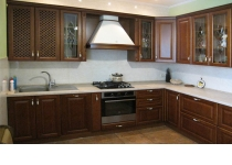 Кухня на заказ 19 нашего производства с деревянными фасадами