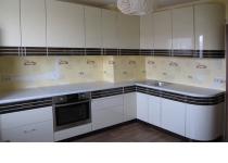 Кухня на заказ 22 нашего производства с крашенными фасадами