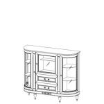 Комод витрина бар FL-KBsz FLORENCJA (ФЛОРЕНЦИЯ), мебель ТАРАНКО
