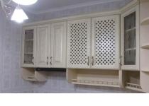 Кухня на заказ 24 нашего производства с деревянными фасадами