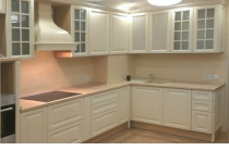 Кухня на заказ 25 нашего производства с крашенными фасадами