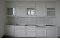Кухня на заказ 26 нашего производства с крашенными фасадами