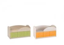 Кровать с ящиками МАУГЛИ 3D МДМ-01 без матраца МФ Санти