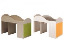 Кровать со шкафом МАУГЛИ 3D МДМ-02 без матраца МФ Санти