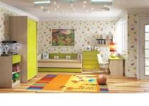 Пример мебели в детскую комнату МАУГЛИ 3D в интерьере