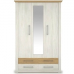 Шкаф с зеркалом АРСАЛ SZF 3D4S сосна норвежская/дуб каменный