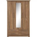 Шкаф с зеркалом АРСАЛ SZF 3D4S дуб стирлинг