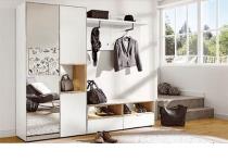 Примеры наборной мебели в прихожую АРТЕ цвет Белый/Дуб каменный