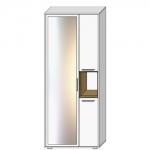 Шкаф АРТЕ H1V3D с зеркалом цвет Белый/Дуб каменный