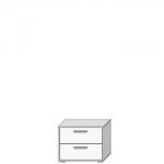 Шкафчик АРТЕ SZFK 2S цвет Белый/Дуб каменный