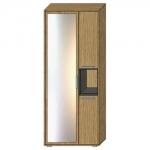 Шкаф АРТЕ H1V3D с зеркалом цвет Дуб каменный/Графит