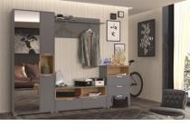 Примеры наборной мебели в прихожую АРТЕ цвет Графит/Дуб каменный