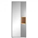 Шкаф АРТЕ H1V3D с зеркалом цвет Графит/Дуб каменный